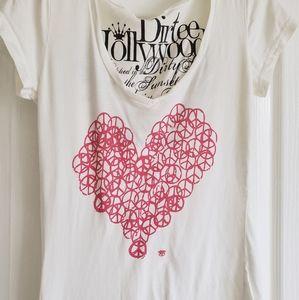 peace heart love t-shirt